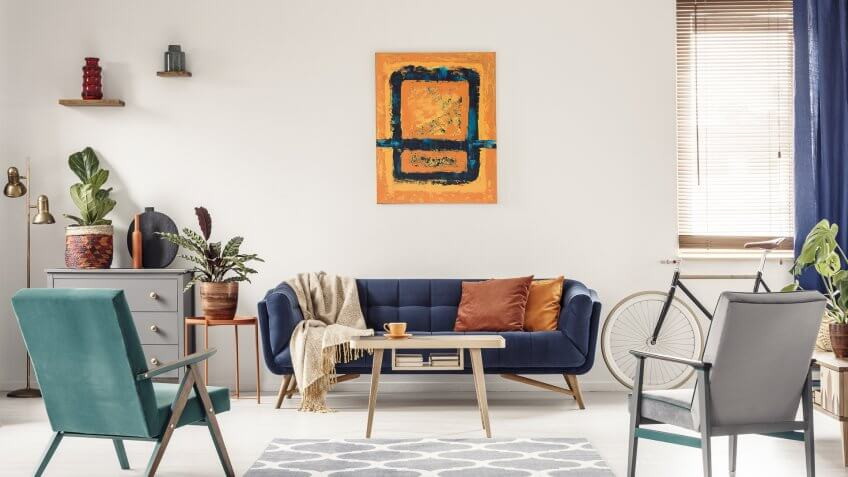 art work in living room