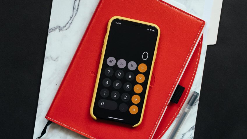 calculator on iPhone