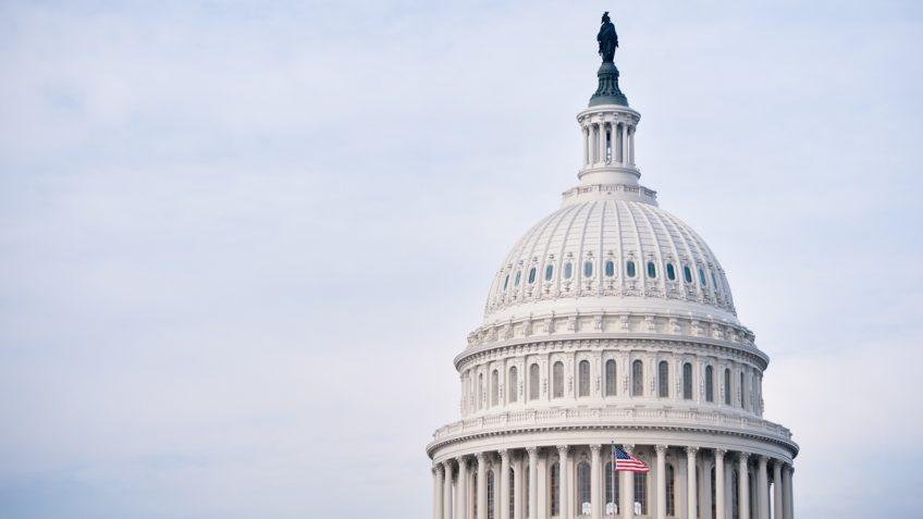 """The United States Capitol in Washington DC, USA."