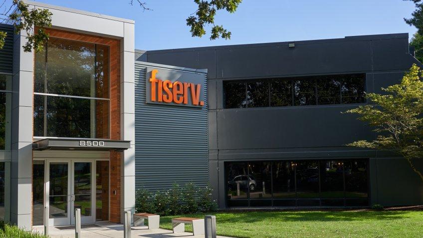 Beaverton, Oregon, USA - Sep 11, 2019: Fiserv Beaverton Office exterior.