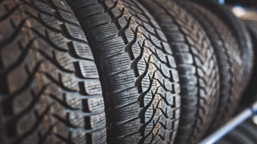 New winter tires for sale in store.