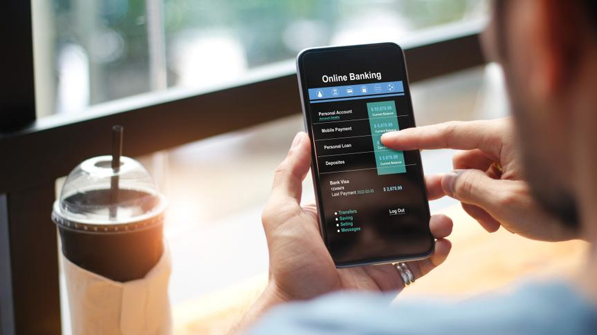 Mobile banking.
