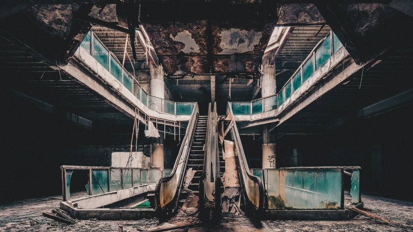 Abandoned mall escalators
