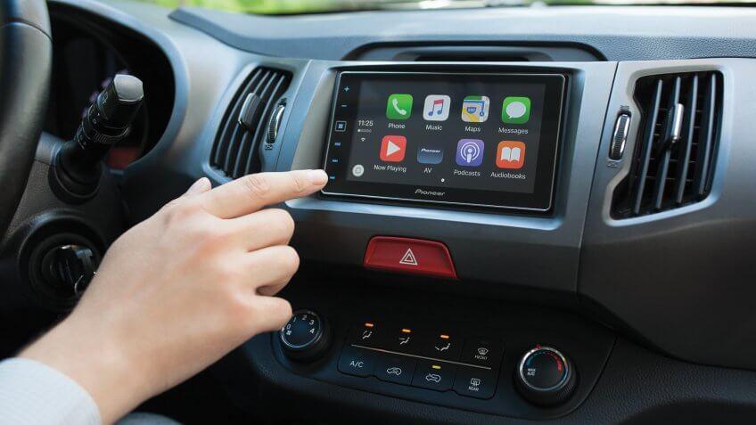 Apple CarPlay in new vehicle