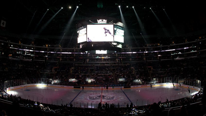 LA Kings hockey game at Staples Center