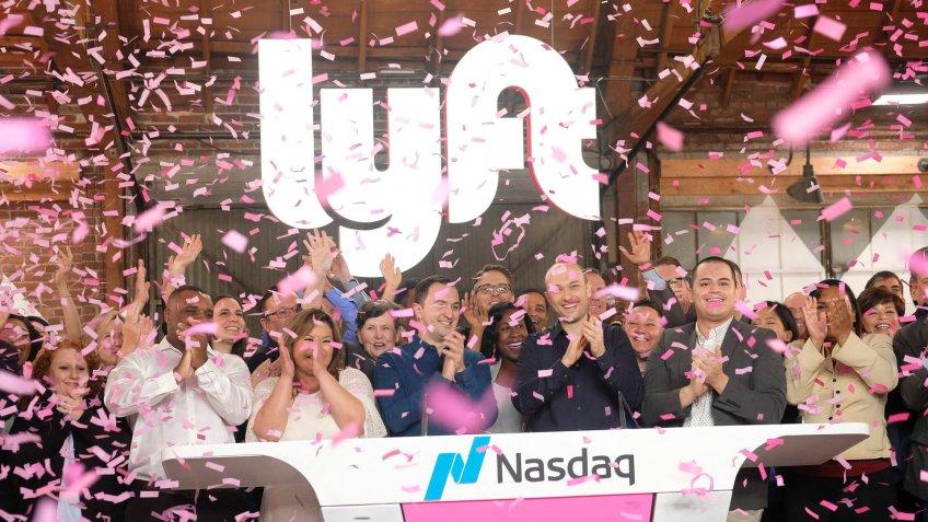 Lyft IPO at Nasdaq Exchange
