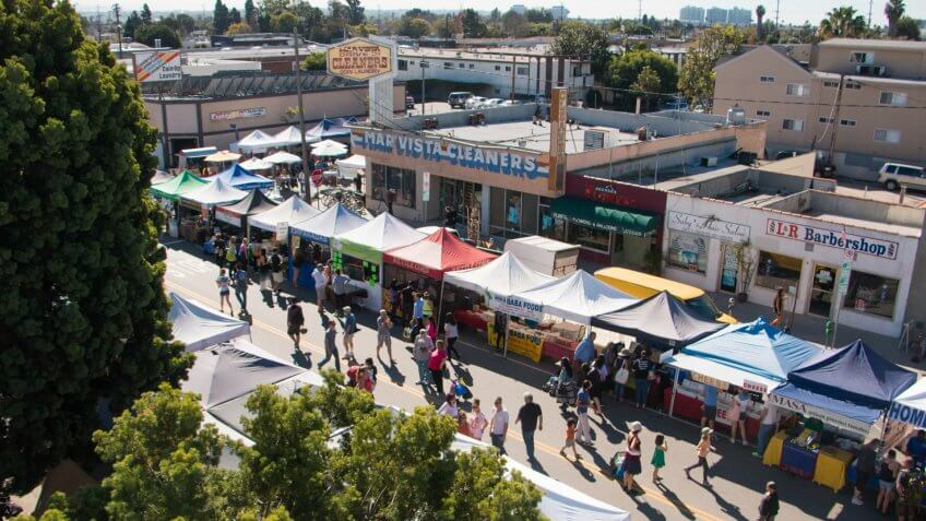 Mar Vista Farmers Market in Los Angeles, California.