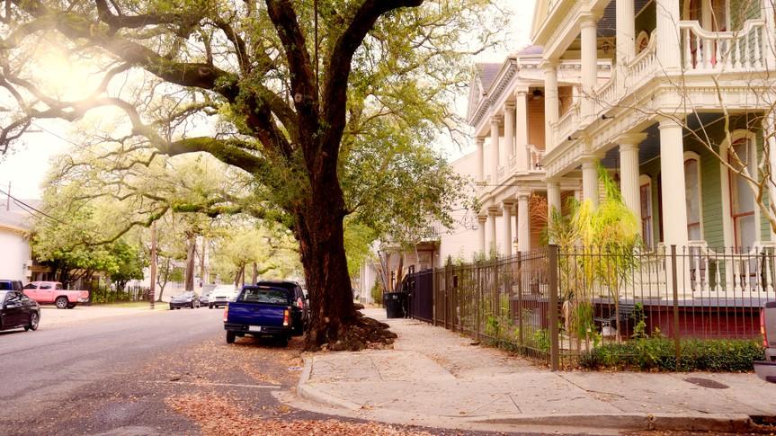 Homes, New Orleans, Louisiana, USA.