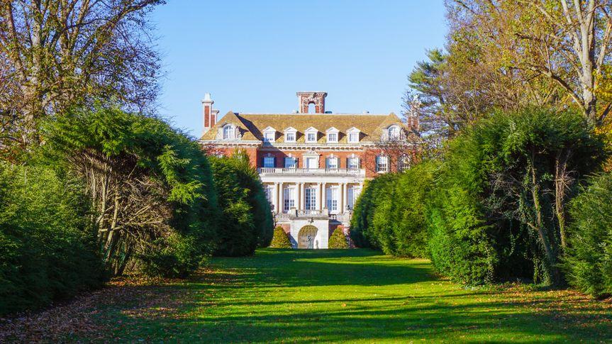 Old Westbury, New York - fall, 2016: Long Island Gold Coast Mansion at Old Westbury Gardens - Image.