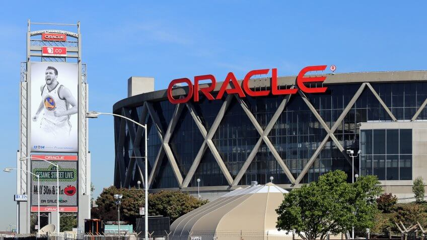 Oakland, CA, USA – March 19, 2014: The Oracle Arena located in Oakland.