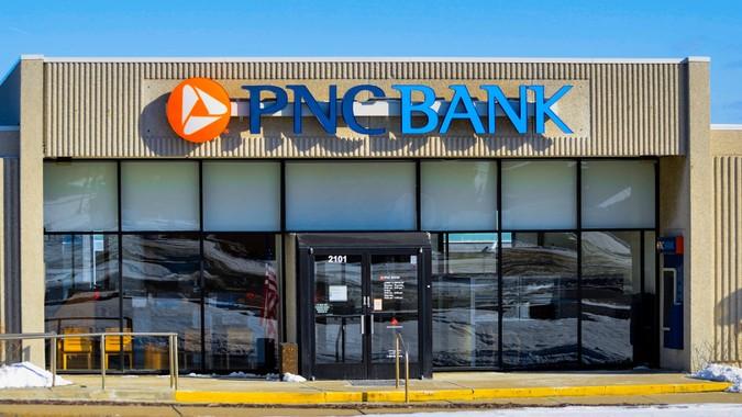 Rochester, Michigan, USA - February 12, 2012: A PNC Bank branch in Rochester, Michigan.