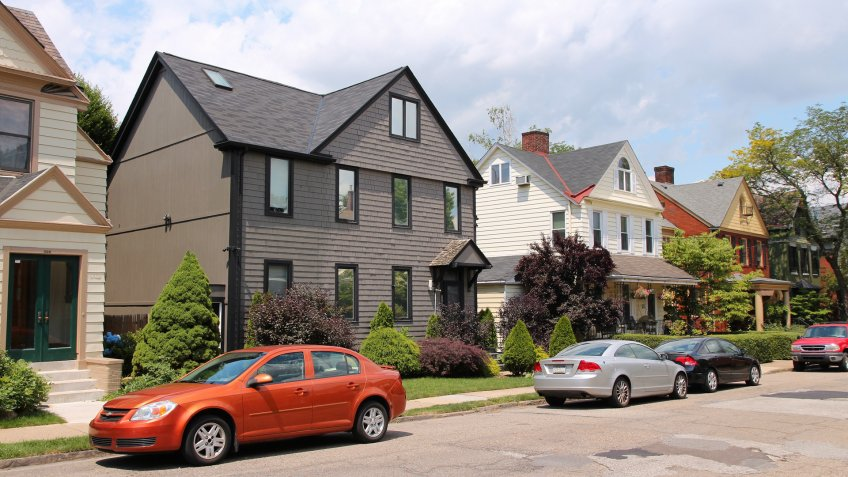 Pittsburgh, USA - June 30, 2013: Residential area of Shadyside, Pittsburgh.