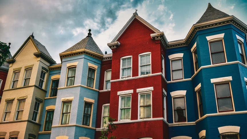 Row of houses in Washington D.