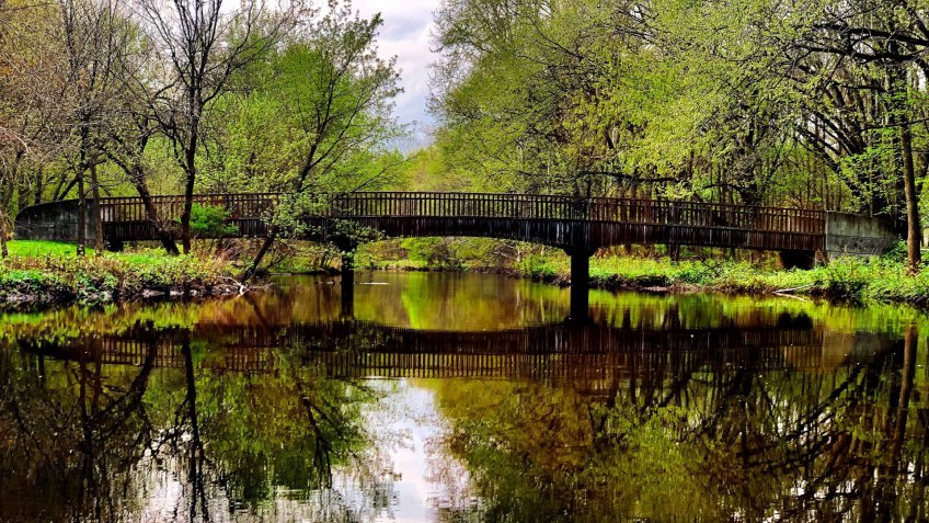 park in saddle river, new jersey - Image.