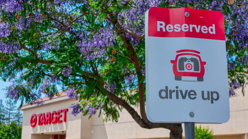 Target reserved drive up parking spot