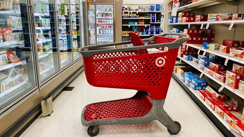 Target shopping cart in store