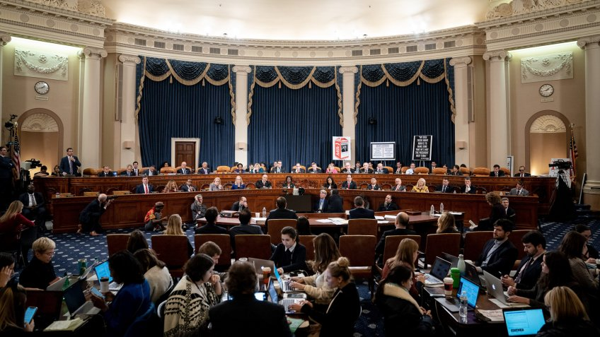 Mandatory Credit: Photo by Shutterstock (10501021m)United States Committee on the Judiciary hearing on considering articles considering articles of impeachment against the US President against the US President on Capitol Hill.
