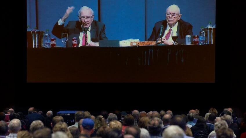 Mandatory Credit: Photo by Nati Harnik/AP/Shutterstock (10228126h)Warren Buffett, Charlie Munger.