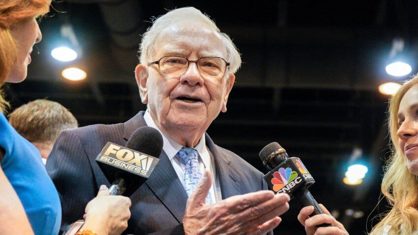 Warren Buffett speaks with CNBC