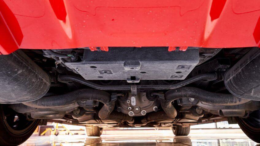 anti-roll bar under car