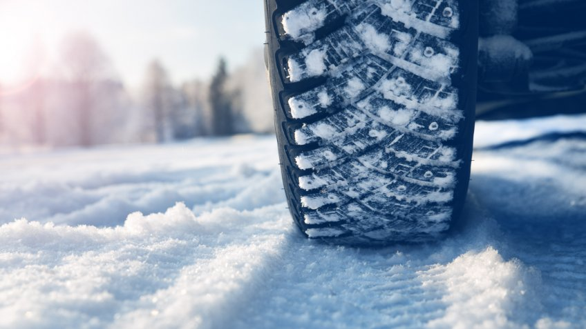 car with snow tires