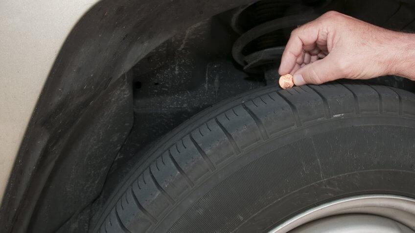 checking car tread
