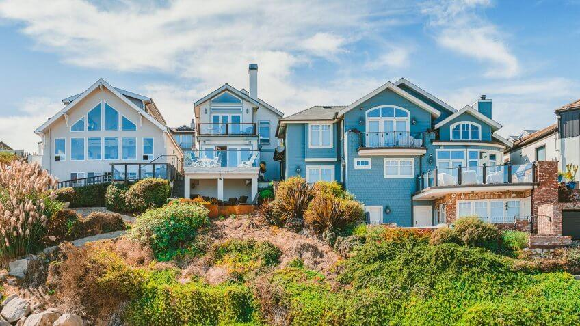 house in coastal California town