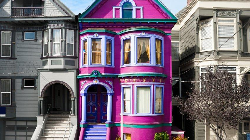 Purple house in San Francisco.