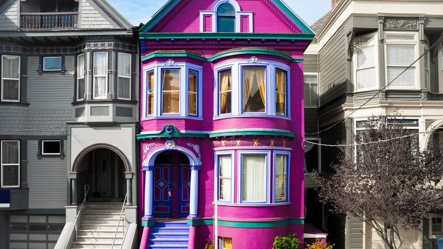 Purple house in San Francisco.