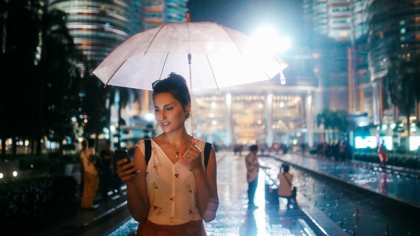 Young woman - solo traveler - enjoying her time in Malaysia, traveling and sightseeing.