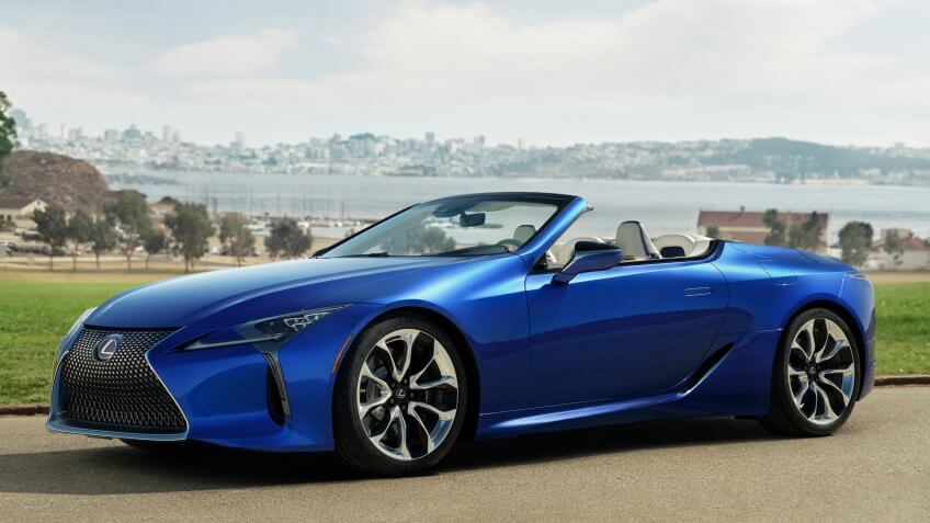 2021 Lexus LC 500 Convertible.