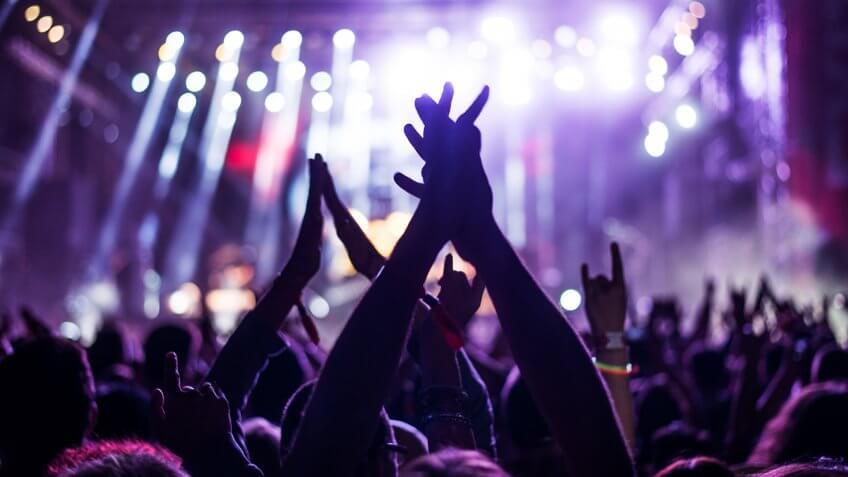 attending a live concert
