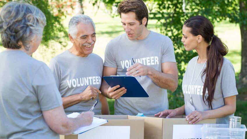 volunteering in the park