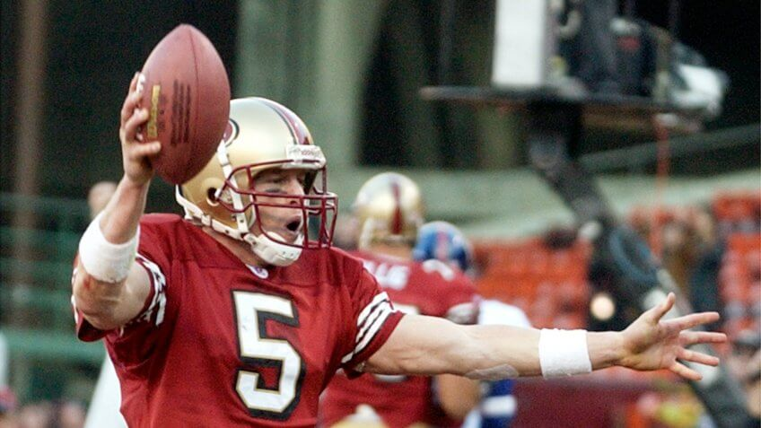 49ers San Francisco quarterback Jeff Garcia