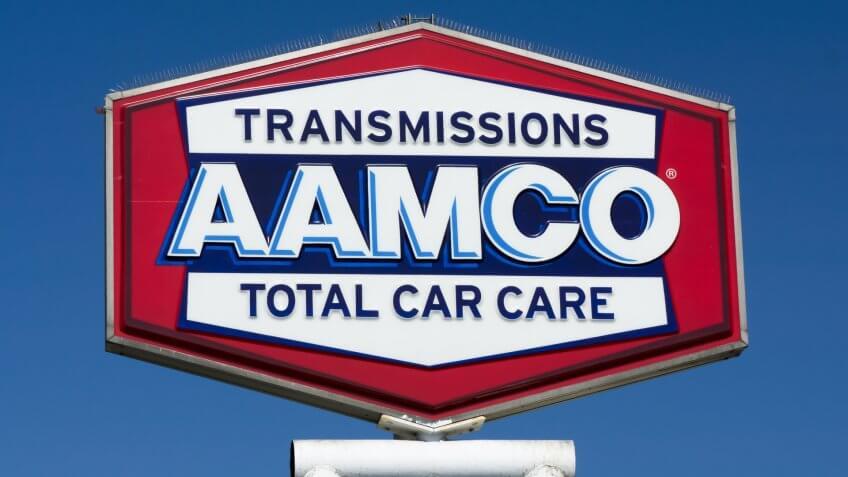 PASADENA, CA/USA - JUNE 21, 2015: AAMCO Transmissions repair facility sign.