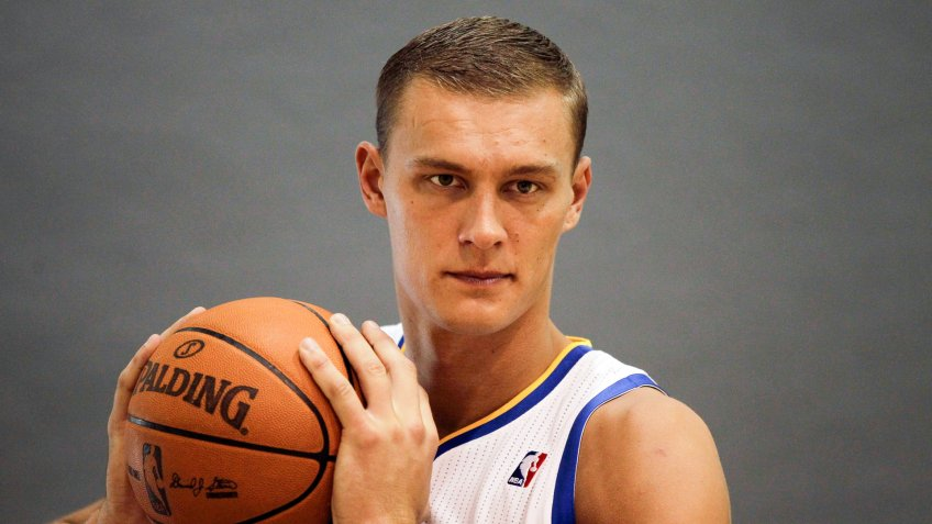 Andris Biedrins Golden State Warriors' Andris Biedrins, of Latvia, during media day in Oakland, CalifWarriors Media Day Basketball, Oakland, USA.