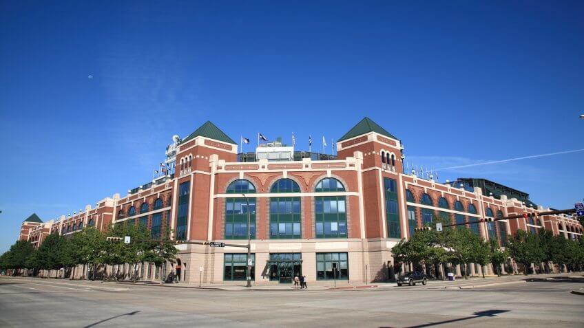ARLINGTON, TEXAS - SEPTEMBER 28: The Ballpark in Arlington, home of the Texas Rangers, on September 28, 2010 in Arlington, Texas.