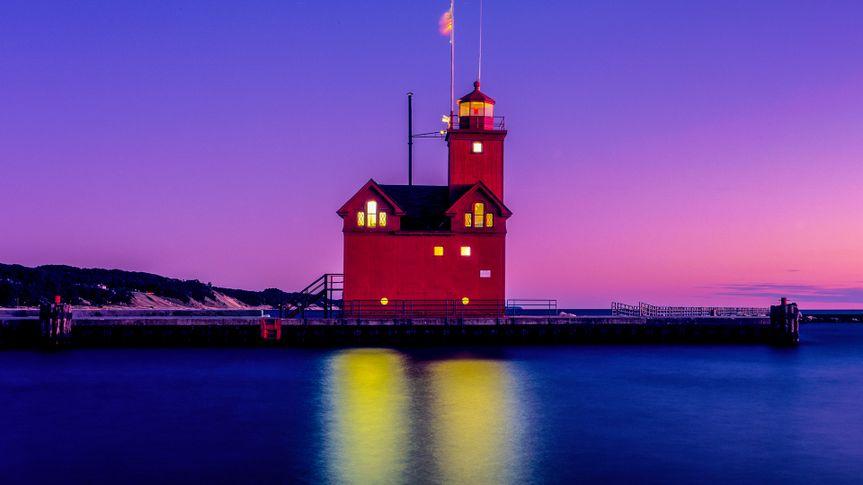 Big Red Lighthouse,Holland, Michigan.