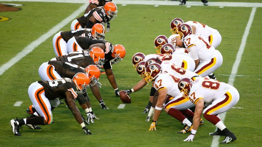 Browns vs Redskins NFL football game.