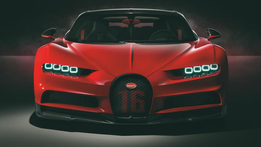 Bugatti Chiron Sport fastest car.