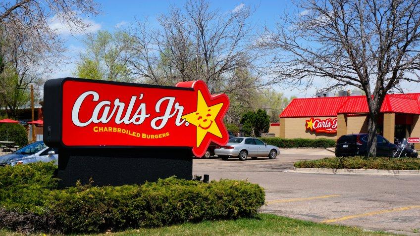 Fort Collins, Colorado, USA - April 26, 2014: The Carl's Jr.