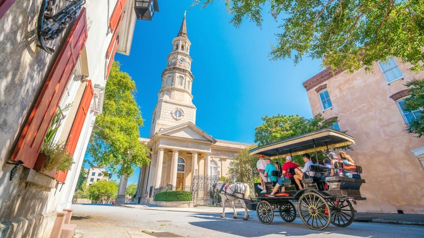 Historical downtown area of Charleston, South Carolina, USA.