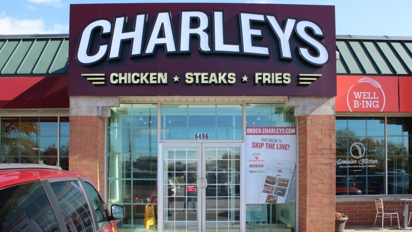 Dublin, Ohio-USA November 5, 2019: Charleys Philly Steaks is an American restaurant chain of Philly cheesesteak stores headquartered in Columbus, Ohio.