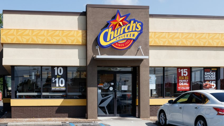 Indianapolis - Circa July 2019: Church's Chicken fast food restaurant.