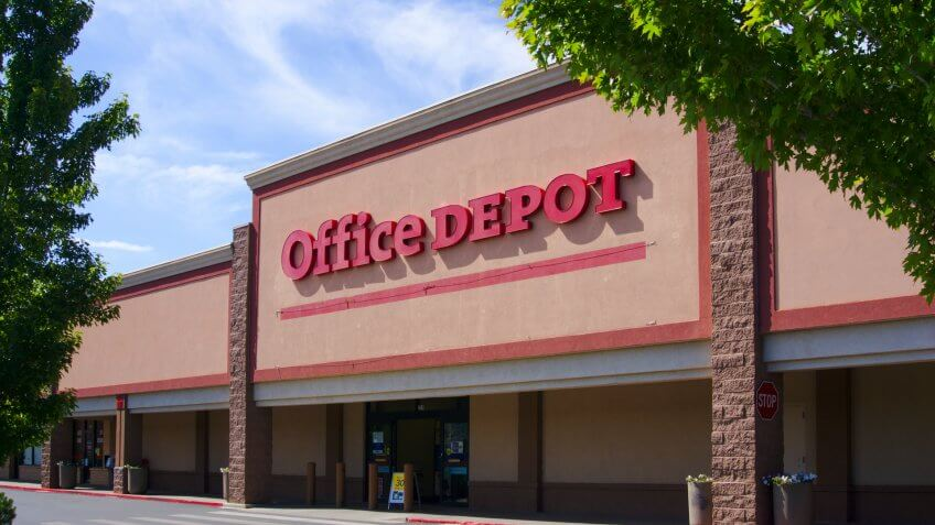 Office Depot in Bodo Park Durango, Colorado / USA - September 14 2019.