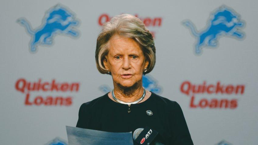 Martha Firestone Ford Detroit Lions owner Martha Firestone Ford reads a prepared statement in in Allen Park, Mich.
