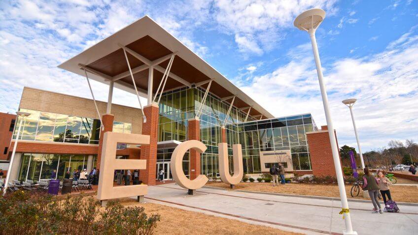 East Carolina University's Main Campus Student Center opened on January 17, 2019.