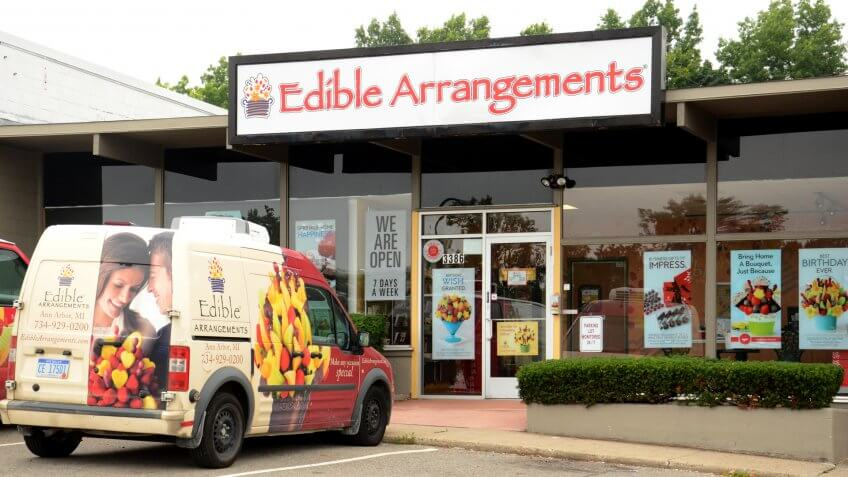 ANN ARBOR, MI - AUGUST 24: Edible Arrangements, whose east Ann Arbor store is shown on August 24, 2014, recently purchased FluitFlowers Brand.