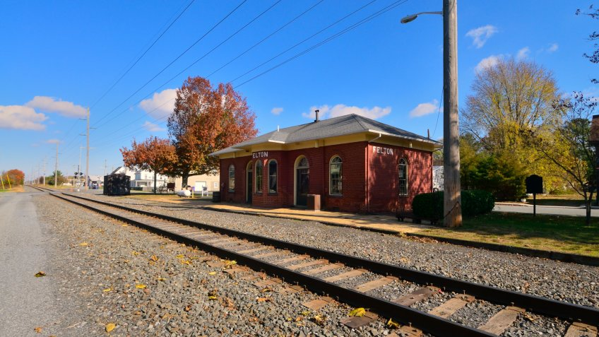 An abandoned train station in rural Delaware reflects a time long gone where this was the primary means of transportation and freight delivery.