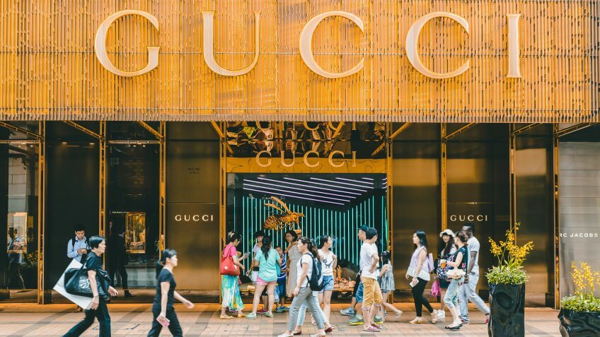 Gucci luxury store in China